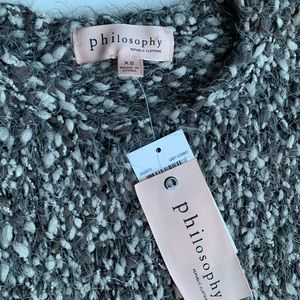 Philosophy Sweaters - PHILOSOPHY Large knit SWEATER GRAY COMBO BLEND XS